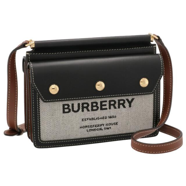 バーバリー BURBERRY 2021年秋冬新作 ショルダーバッグ ミニ ホースフェリープリント タイトルバッグ ブラック系 8042852