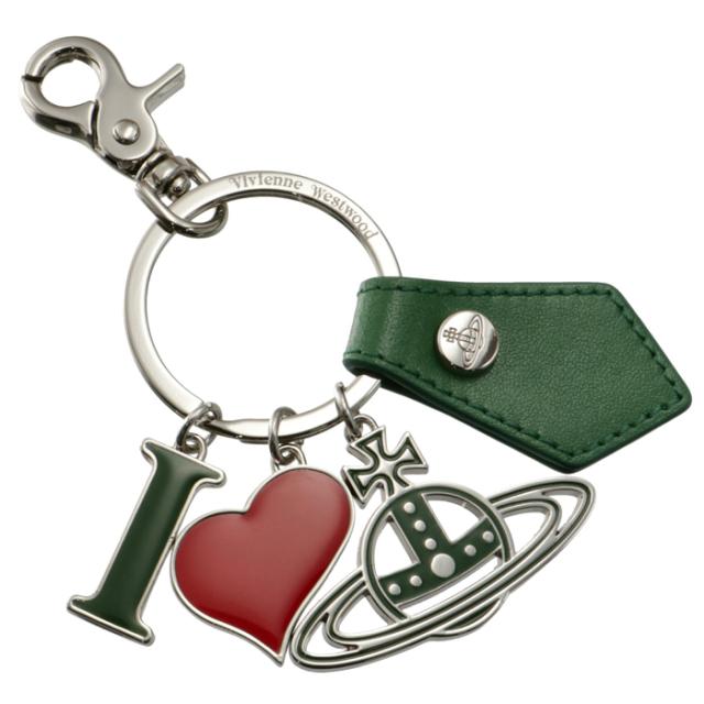 ヴィヴィアン ウエストウッド VIVIENNE WESTWOOD キーホルダー I LOVE ORB キーリング オーブ グリーン系 82030009 01947 M406