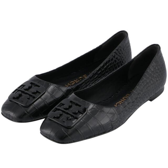 トリーバーチ TORY BURCH 2021年秋冬新作 パンプス ジョージア バレエ ワイド フラットシューズ 靴 ブラック 83974 0003 006