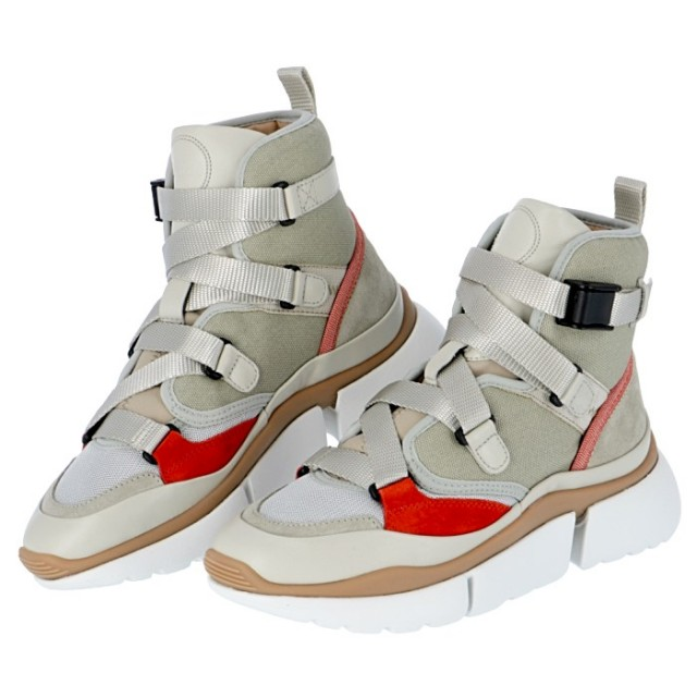 クロエ CHLOE 2019年秋冬新作 SONNIE HIGH ソニー ハイカット レザー スニーカー 靴 シューズ CHC18A050 18 38A