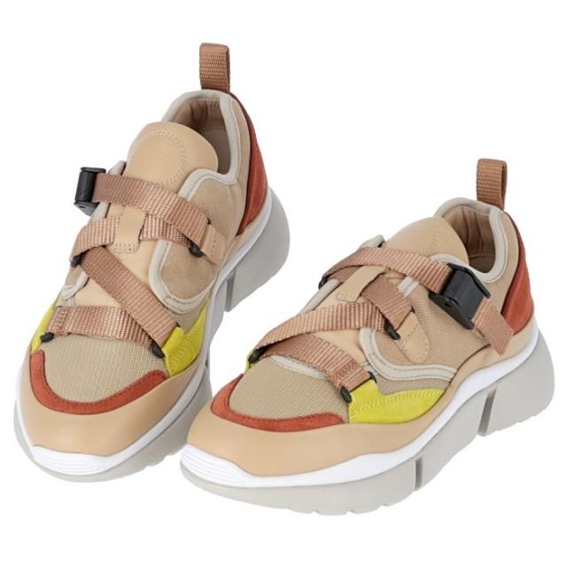 クロエ CHLOE 2019年秋冬新作 SONNIE LOW ソニー レザー スニーカー 靴 シューズ CHC18A051 18 6I5