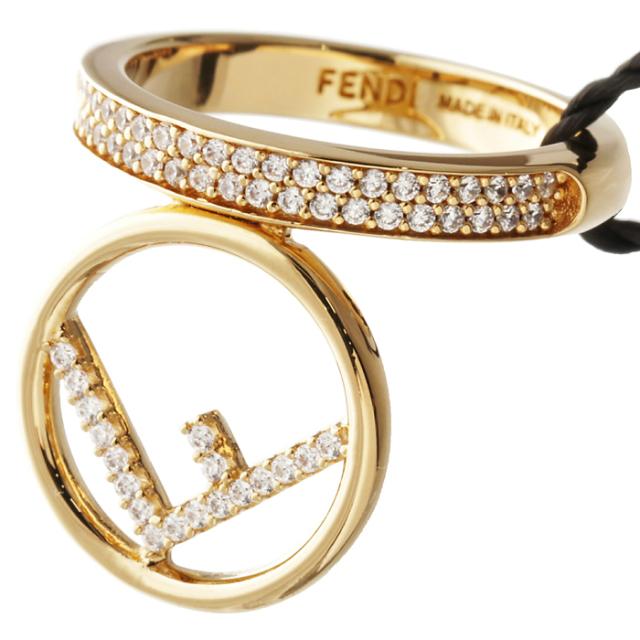 フェンディ FENDI メタルリング F is Fendi クリスタル メタル 指輪 ゴールド 8AH170 A44G F089U