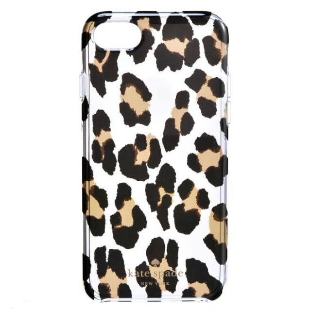 ケイトスペード KATE SPADE 2017年秋冬新作 leopard clear - 7 アイフォン7 iPhoneケース スマホケース 8ARU1639 0015 915