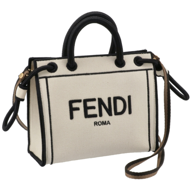 フェンディ FENDI トートバッグ Fendi Roma ミニ ショッパー 2WAYハンドバッグ 8BH380 AEI1 F0WNA