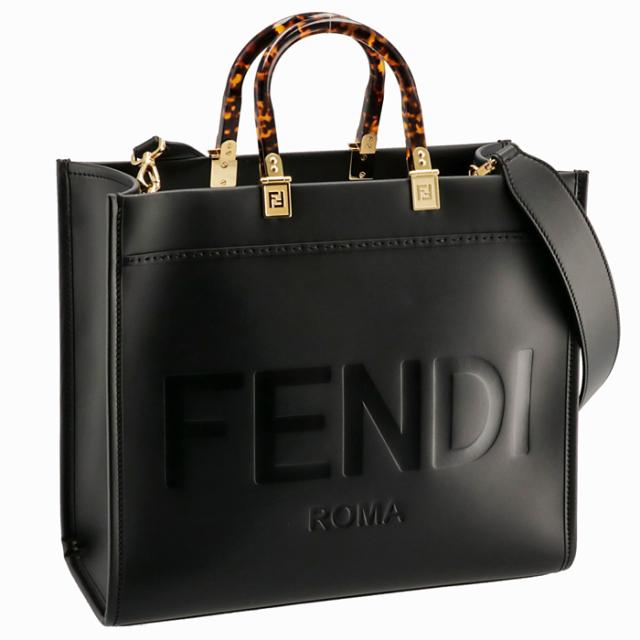 フェンディ FENDI 2021年秋冬新作 トートバッグ サンシャイン ミディアム FENDI ROMA ブラック 8BH386 ABVL F0KUR