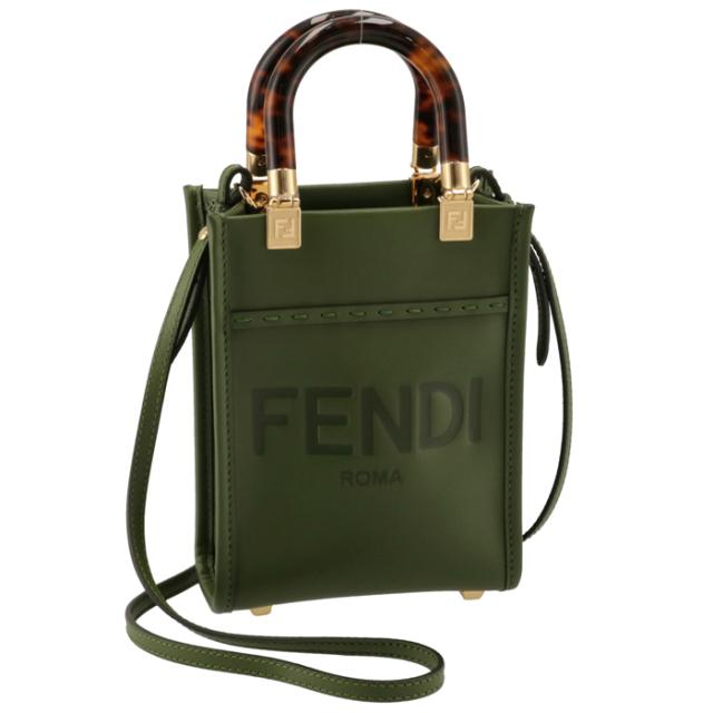 フェンディ FENDI ショルダーバッグ サンシャイン ショッパー スモール ミニバッグ グリーン系 8BS051 ABVL F0MRU