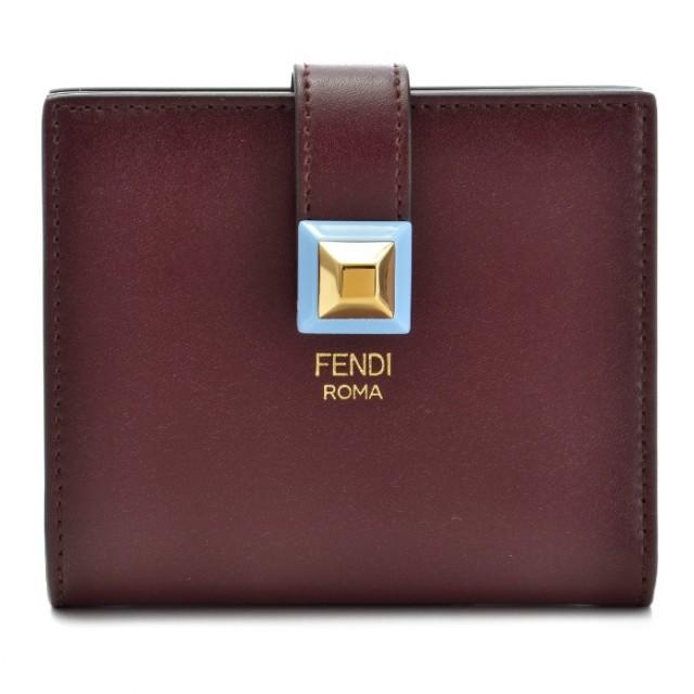フェンディ FENDI 2017年秋冬新作 財布 二つ折り ミニ財布 WALLET 二つ折り財布 8M0386 SWD F09YC