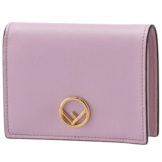 フェンディ FENDI 財布 二つ折り ミニ財布 小銭入れ付き F IS FENDI ピンク系 8M0387 A18B F0NVJ