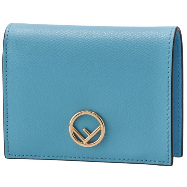 フェンディ FENDI 財布 二つ折り ミニ財布 小銭入れ付き F IS FENDI ブルー系 8M0387 A18B F1E8E