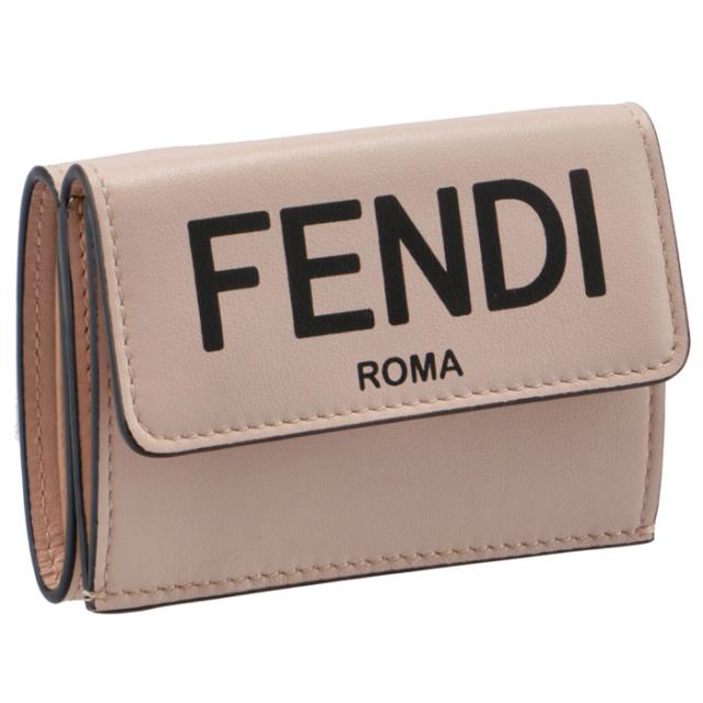 フェンディ FENDI 2020年秋冬新作 財布 三つ折り ミニ財布 FENDI ROMA 三つ折り財布 8M0395 ADP6 F1CN7