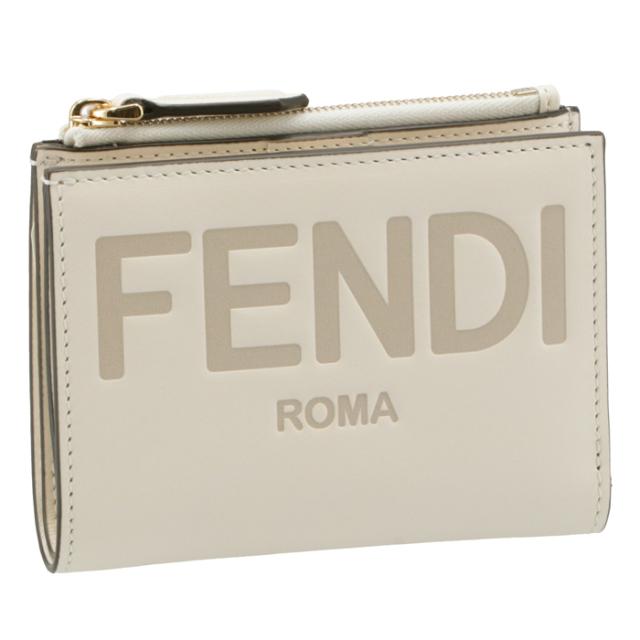 フェンディ FENDI 財布 二つ折り ミニ財布 FENDI ROMA 二つ折り財布 8M0447 AAYZ F0K7E