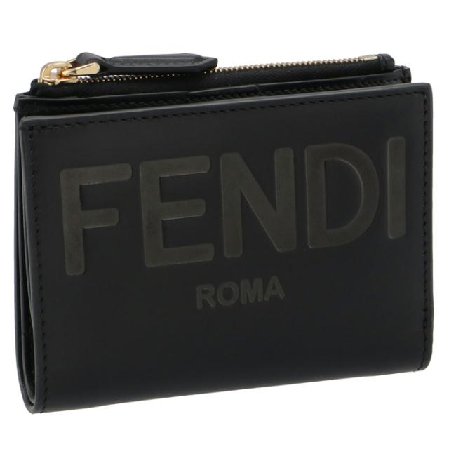 フェンディ FENDI 財布 二つ折り ミニ財布 FENDI ROMA 二つ折り財布 8M0447 AAYZ F0KUR