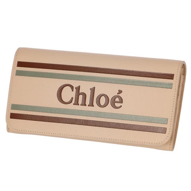 クロエ CHLOE 2019年春夏新作 財布 ロゴ カーフレザー 二つ折り 長財布 二つ折り財布 9SP065 A88 6H7