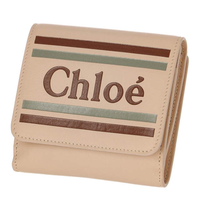 クロエ CHLOE 2019年春夏新作 財布 ロゴ カーフレザー ミニ財布 二つ折り 二つ折り財布 二つ折り財布 9SP066 A88 6H7