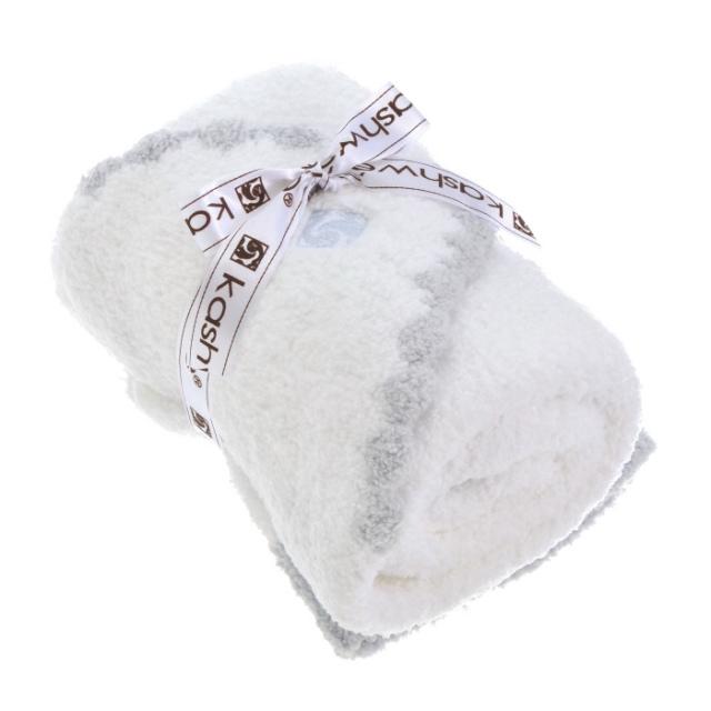 カシウエア KASHWERE  ブランケット&キャップセット SOLID BABY BLANKET BB676130 0001 0028【GIFT】