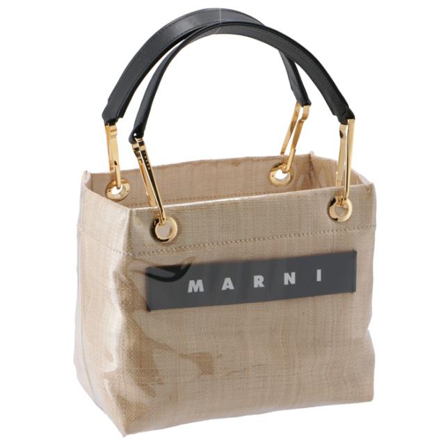 マルニ MARNI 2020年秋冬新作 トートバッグ Sサイズ PVC×ラフィア GLOSSY GRIP ショッピングバッグ BMMP0013Q1 P3620 00W16