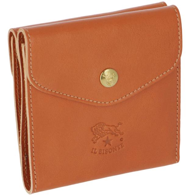イルビゾンテ IL BISONTE 財布 三つ折り ダブルホック財布 レディース メンズ ユニセックス C0424 P 145