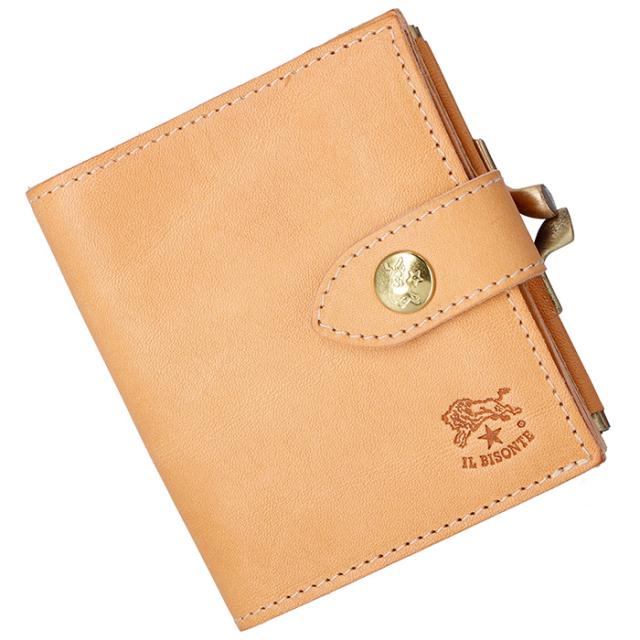 イルビゾンテ IL BISONTE 2018年秋冬新作 財布 がま口  メンズ ミニ財布 二つ折り財布 C1033 P 120