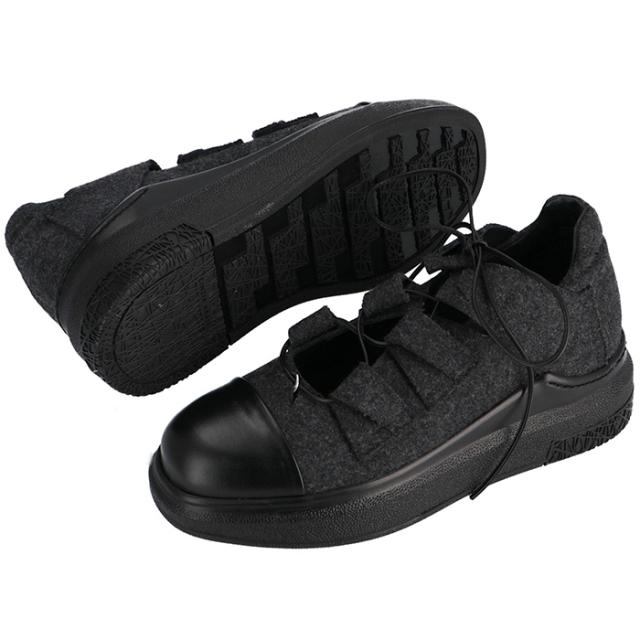 チンツィアアライア CINZIA ARAIA 靴 スニーカー フェルト×カーフスキン CA233 506N 0001
