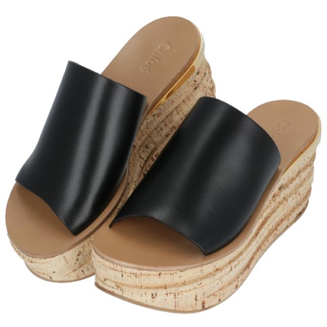 クロエ CHLOE 2020年春夏新作 サンダル CAMILLE ウェッジミュール シューズ 靴 サンダル CHC17S561 79 001