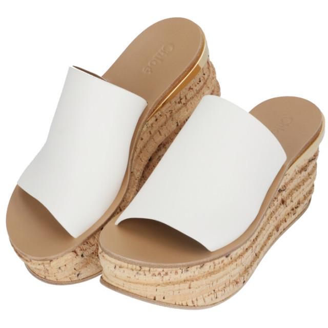 クロエ CHLOE 2020年春夏新作 サンダル CAMILLE ウェッジミュール シューズ 靴 サンダル CHC17S561 79 101
