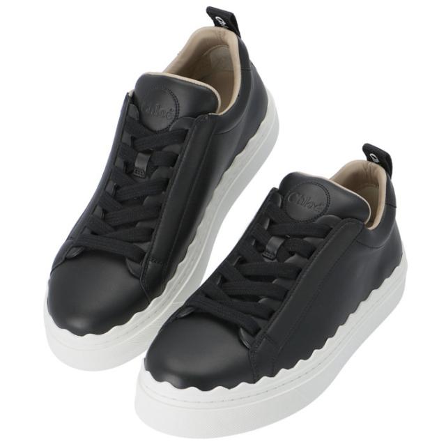 クロエ CHLOE 2021年秋冬新作 スニーカー LAUREN シューズ 靴 ブラック CHC19S108 42 001