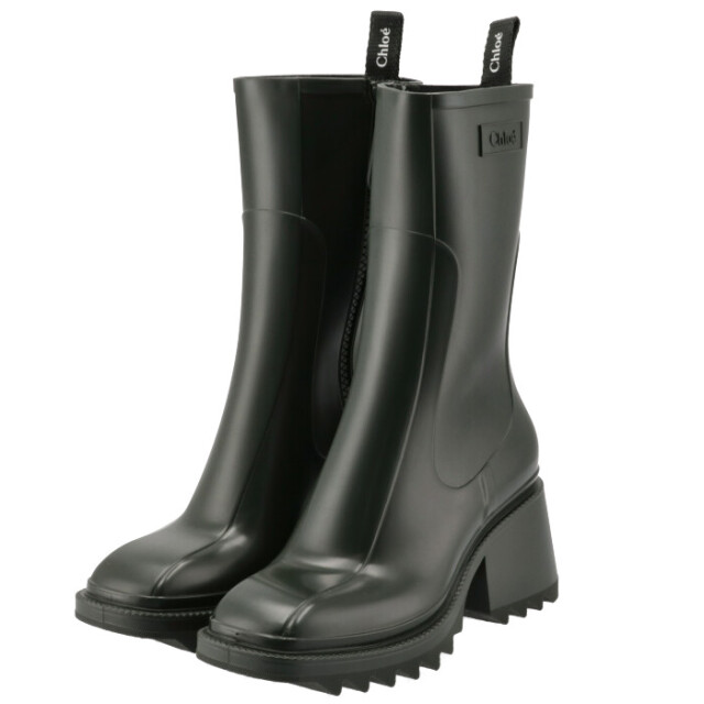 クロエ CHLOE 2021年秋冬新作 レインブーツ Betty シューズ 靴 ダークグリーン CHC19W239 G8 3E8