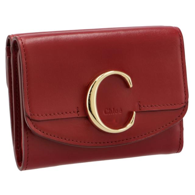 クロエ CHLOE 2021年春夏新作 財布 三つ折り ミニ財布 Chloe' C 三つ折り財布 CHC19WP088 A37 616