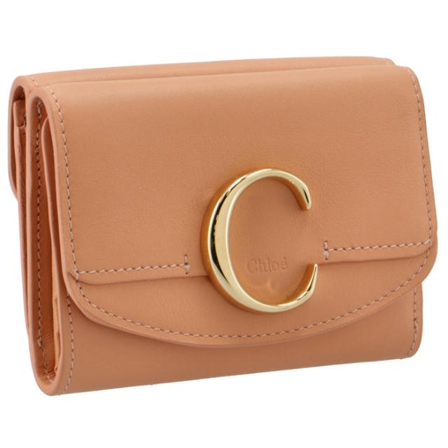 【SALE】クロエ CHLOE 財布 三つ折り ミニ財布 Chloe' C 三つ折り財布 CHC21SP088 E01 6I1