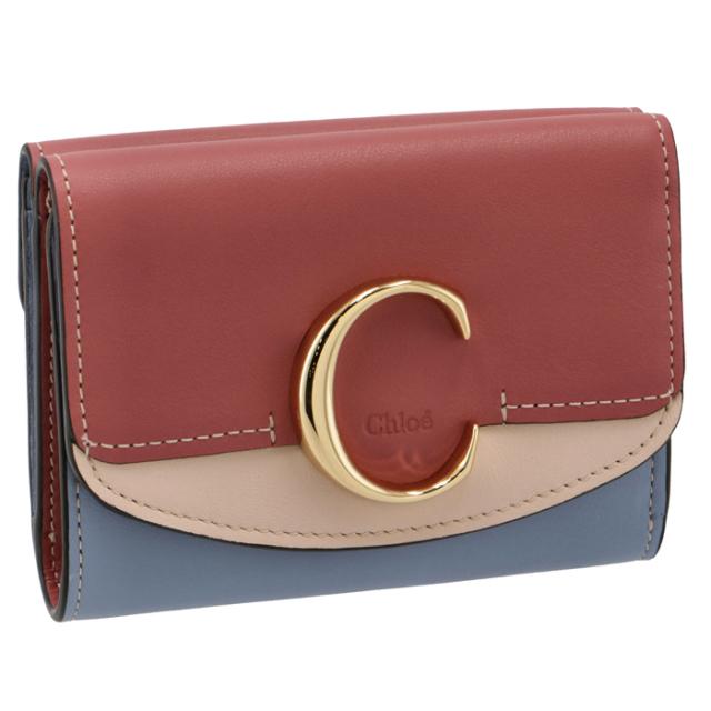 クロエ CHLOE 2021年秋冬新作 財布 三つ折り ミニ財布 Chloe' C CHC21SP088 E19 6S2