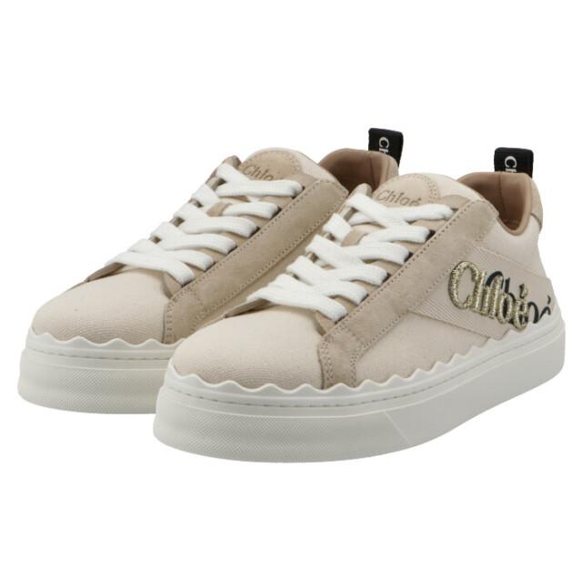 クロエ CHLOE スニーカー LAUREN キャンバスレザー 靴 スニーカー CHC21U108 Q7 101