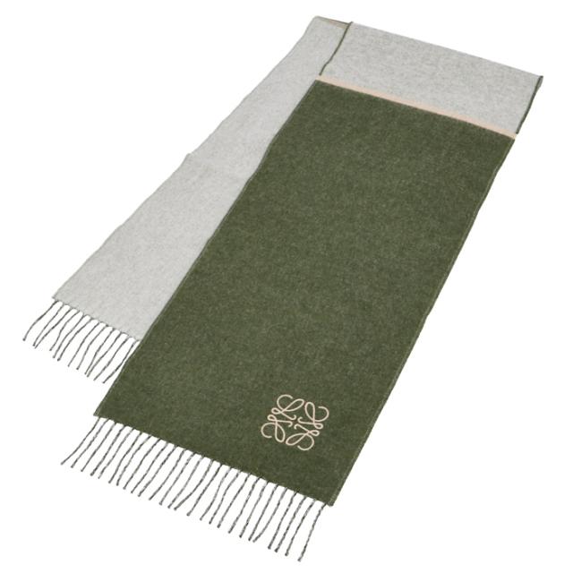 ロエベ LOEWE 2020年秋冬新作 マフラー アナグラム刺繍 スカーフ  スカーフ F810487X01 0057 2277
