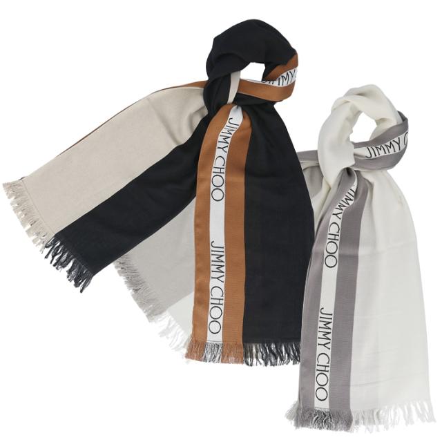 ジミーチュウ JIMMY CHOO 2019年秋冬新作 ロゴ シルク マフラー ストール スカーフ スカーフ H65074860