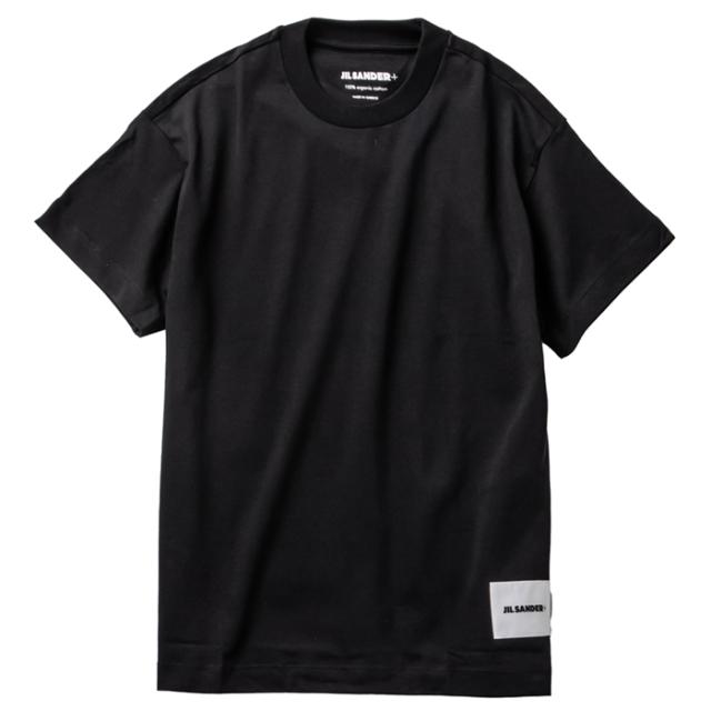 ジル サンダー JIL SANDER 2021年秋冬新作 ロゴ Tシャツ 3PACK ブラック JPPT706540 248808 001