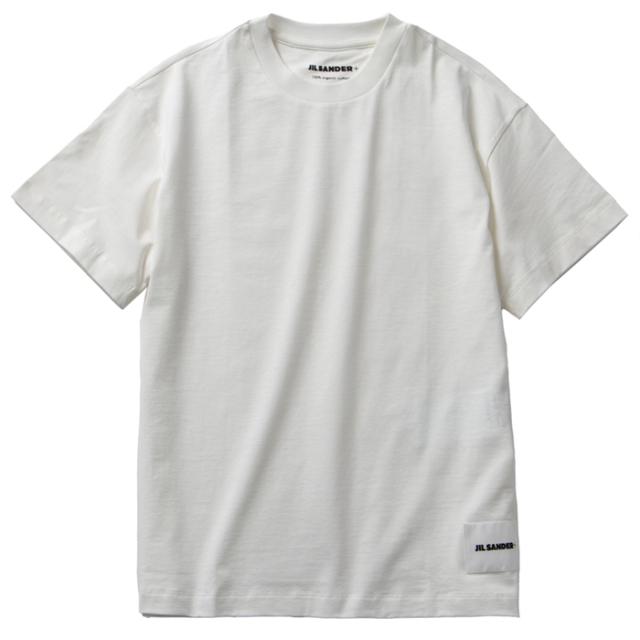 ジル サンダー JIL SANDER 2021年秋冬新作 ロゴ Tシャツ 3PACK ホワイト JPPT706540 248808 100