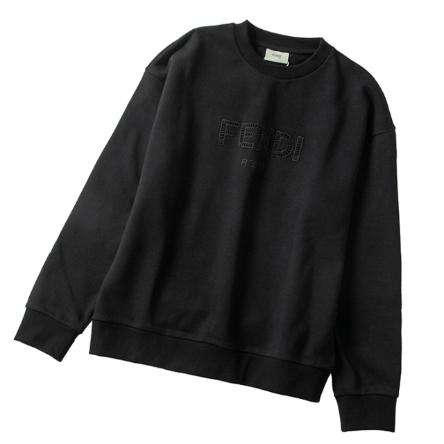 フェンディ FENDI 【大人もOK】キッズ 12+サイズ ロゴ スウェットシャツ 長袖 ブラック JUH030 5V0 F0GME