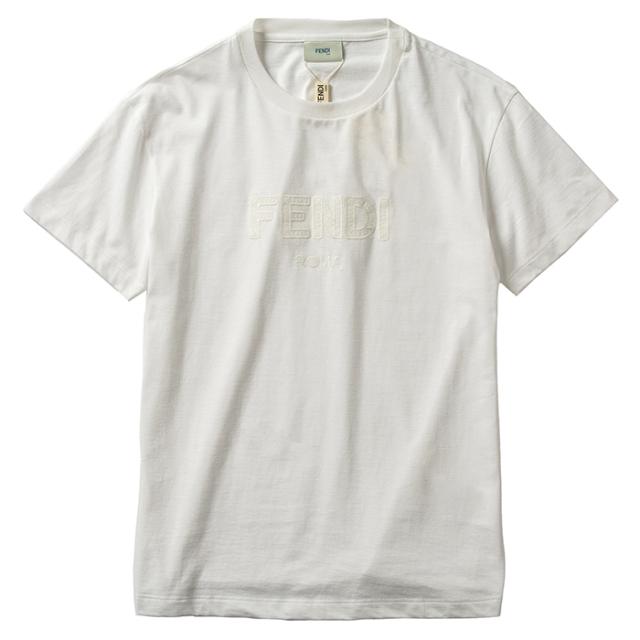 フェンディ FENDI 【大人もOK】キッズ 12+サイズ Tシャツ ロゴ スウェットシャツ ホワイト JUI028 7AJ F0TU9