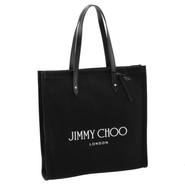 ジミーチュウ JIMMY CHOO 2021年秋冬新作 トートバッグ キャンバス LOGO TOTE ブラック LOGOTOTE FFQ 0171