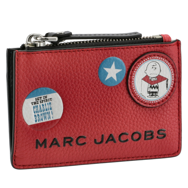 マークジェイコブス【PEANUTS×MARC JACOBS】コラボ カード&コインケース パスケース付き M0016823 0004 601