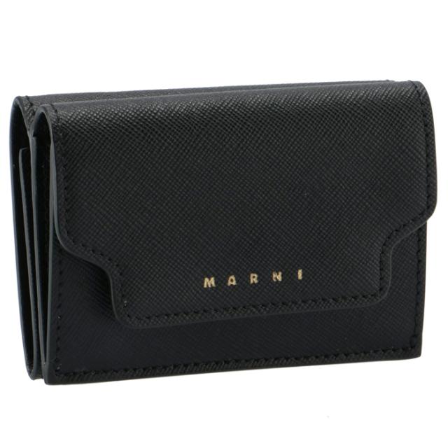 マルニ MARNI 2021年春夏新作 財布 三つ折り ミニ財布 サフィアーノレザー 三つ折り財布 PFMOW02U07 LV520 Z360N