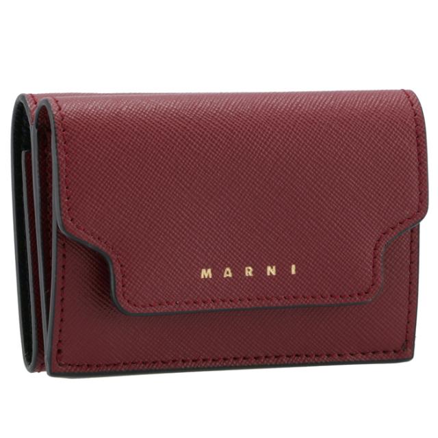 マルニ MARNI 2021年秋冬新作 財布 三つ折り ミニ財布 サフィアーノレザー 三つ折り財布 PFMOW02U07 LV520 Z468N