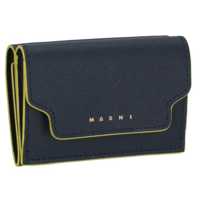 マルニ MARNI 2020年春夏新作 財布 三つ折り ミニ財布 サフィアーノレザー 三つ折り財布 PFMOW02U17 LV520 Z304Y