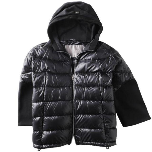 ヘルノ HERNO ダウン  ジャケット ショート丈 8分袖 フード付き OVER JACKET CON CAPPUCCIO PI014DRM01 12017 9300