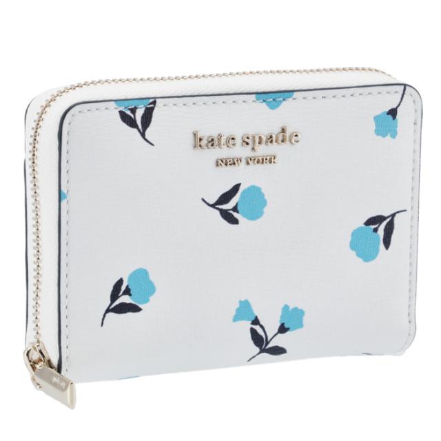 ケイトスペード KATE SPADE ジップ カードケース SPENCER スペンサー dainty bloom ホワイト系 PWR00353 0007 141