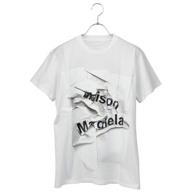 メゾン マルジェラ MAISON MARGIELA 2020年秋冬新作 ロゴ Tシャツ カットソー S51GC0499 S22816 100