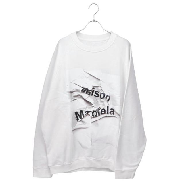 メゾン マルジェラ MAISON MARGIELA 2020年秋冬新作 ロゴ オーバーサイズ スウェットシャツ トレーナー スウェット S51GU0100 S25322 100