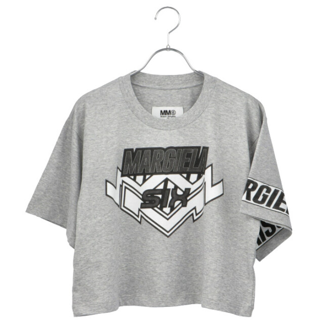 エム エム シックス メゾン マルジェラ モトクロス ロゴ クロップド Tシャツ/カットソー S52GC0176 S23588 858M