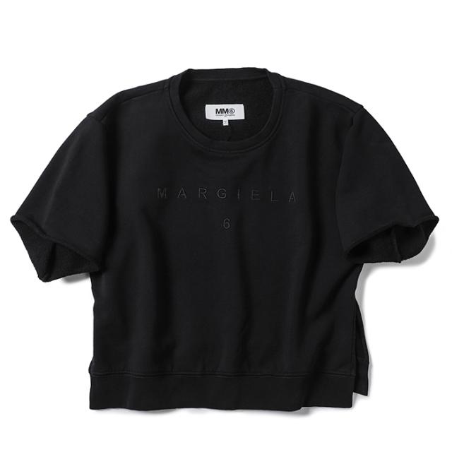 エム エム シックス メゾン マルジェラ MM6 MAISON MARGIELA 2021年秋冬新作 ロゴ Tシャツ レディース ブラック S52GU0142 S25337 900