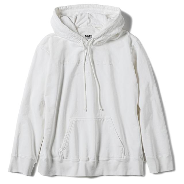 エム エム シックス メゾン マルジェラ MM6 MAISON MARGIELA 2021年秋冬新作 ロゴ パーカー スウェットシャツ フーディ ホワイト S52GU0152 S25337 101