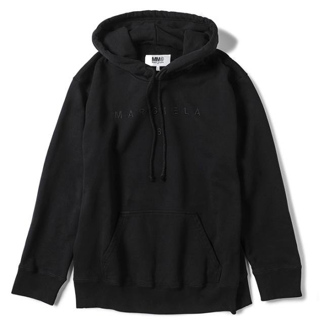 エム エム シックス メゾン マルジェラ MM6 MAISON MARGIELA 2021年秋冬新作 ロゴ パーカー スウェットシャツ フーディ ブラック S52GU0152 S25337 900